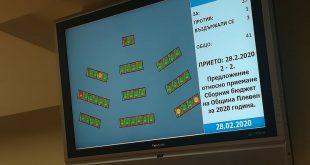 Община Плевен официално с приет бюджет за 2020