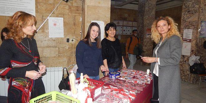 Благотворителен базар на мартеници в Медицински университет – Плевен