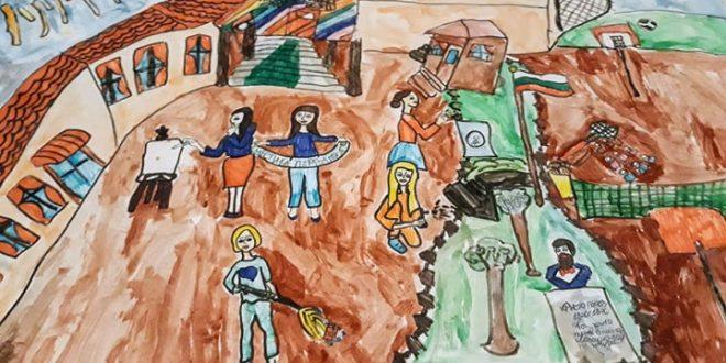 Деца рисуват училището си