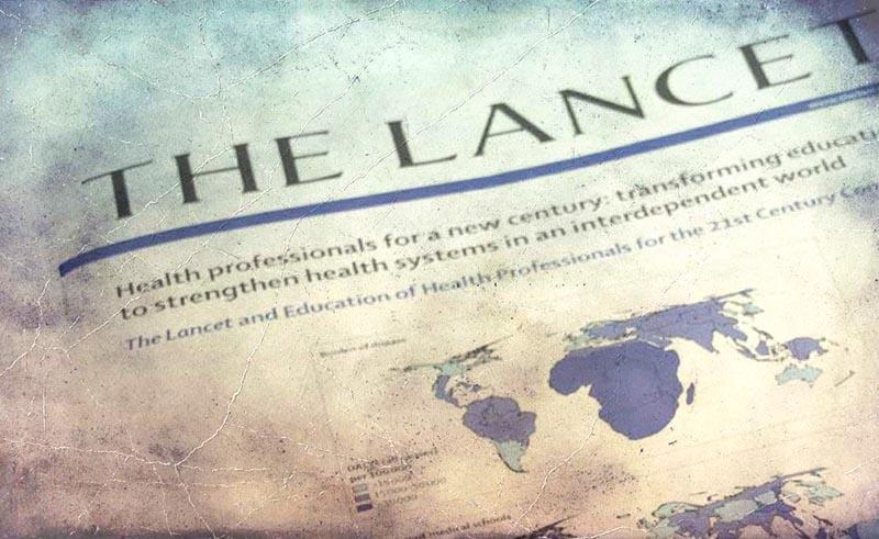 Списание The Lancet, в което са публикациите на плевенските медици