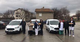 Три чисто нови автомобила за нуждите на Домашен социален патронаж и трапезарии в Община Долна Митрополия