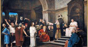 Залавянето на Иисус в Гетсиманската градина и изправянето му на съд пред Пилат Понтийски