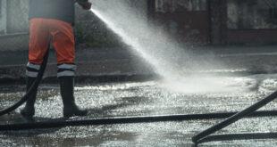 започна второто за годината измиване на улиците в плевен
