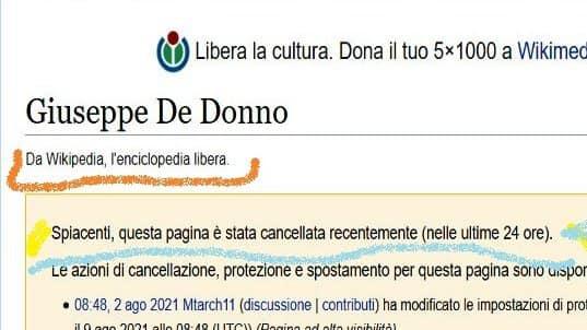 Wikipedia закри страницата на самоубилия се италиански лекар. След масово възмущение – отново я откри
