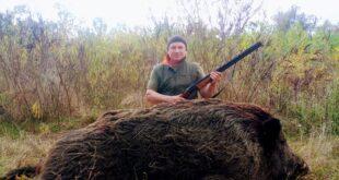 Близо 300 килограмово прасе отстреляно край Белене